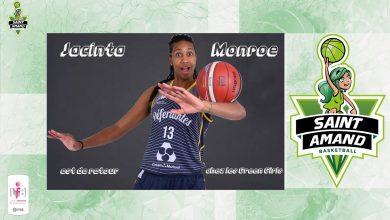 Photo de Basket – Jacinta Monroe est de retour à Saint Amand !