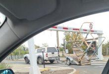 Photo de Valenciennes – Accident au portique du pont Villars